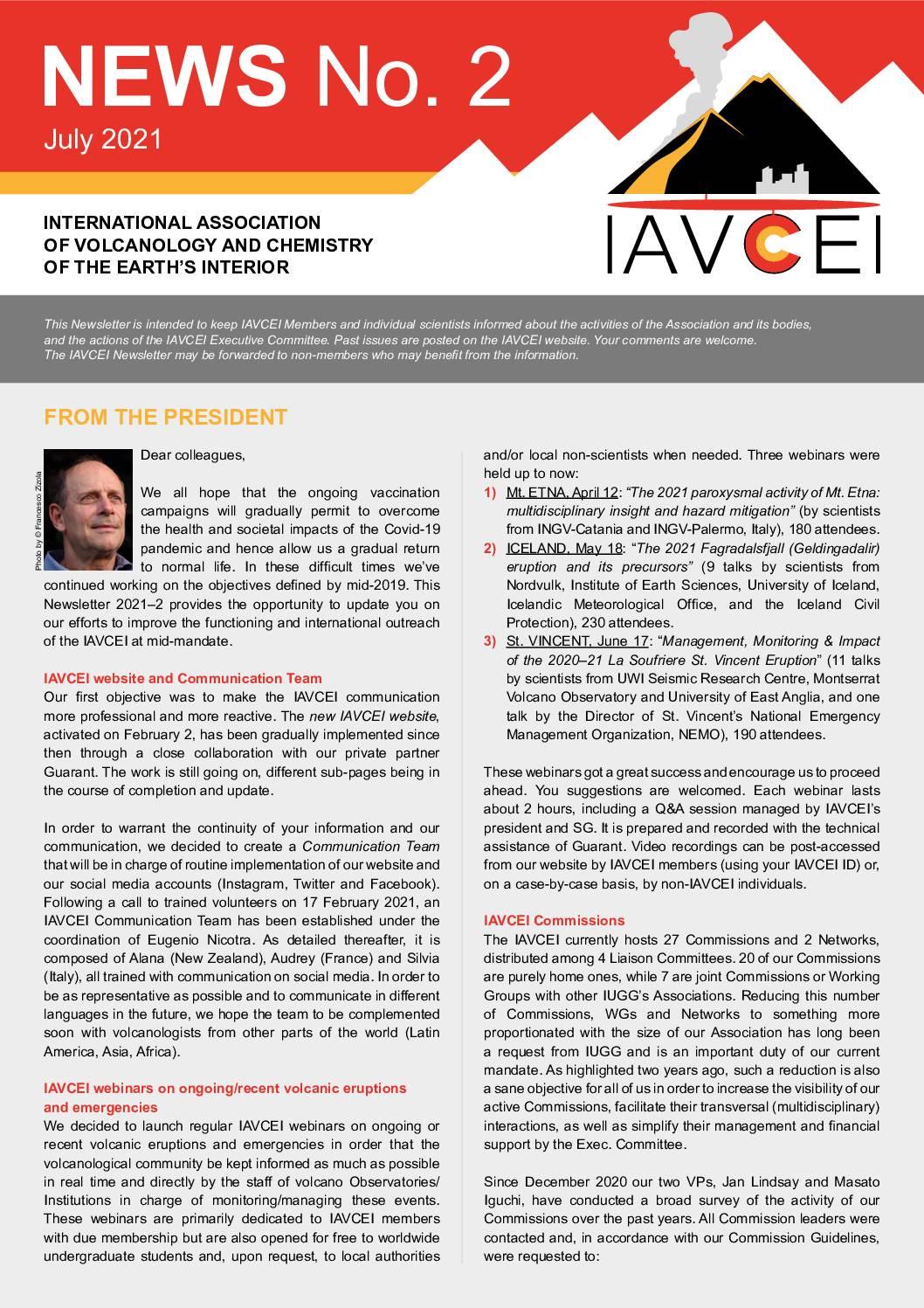 Latest IAVCEI Newsletter – 2/2021