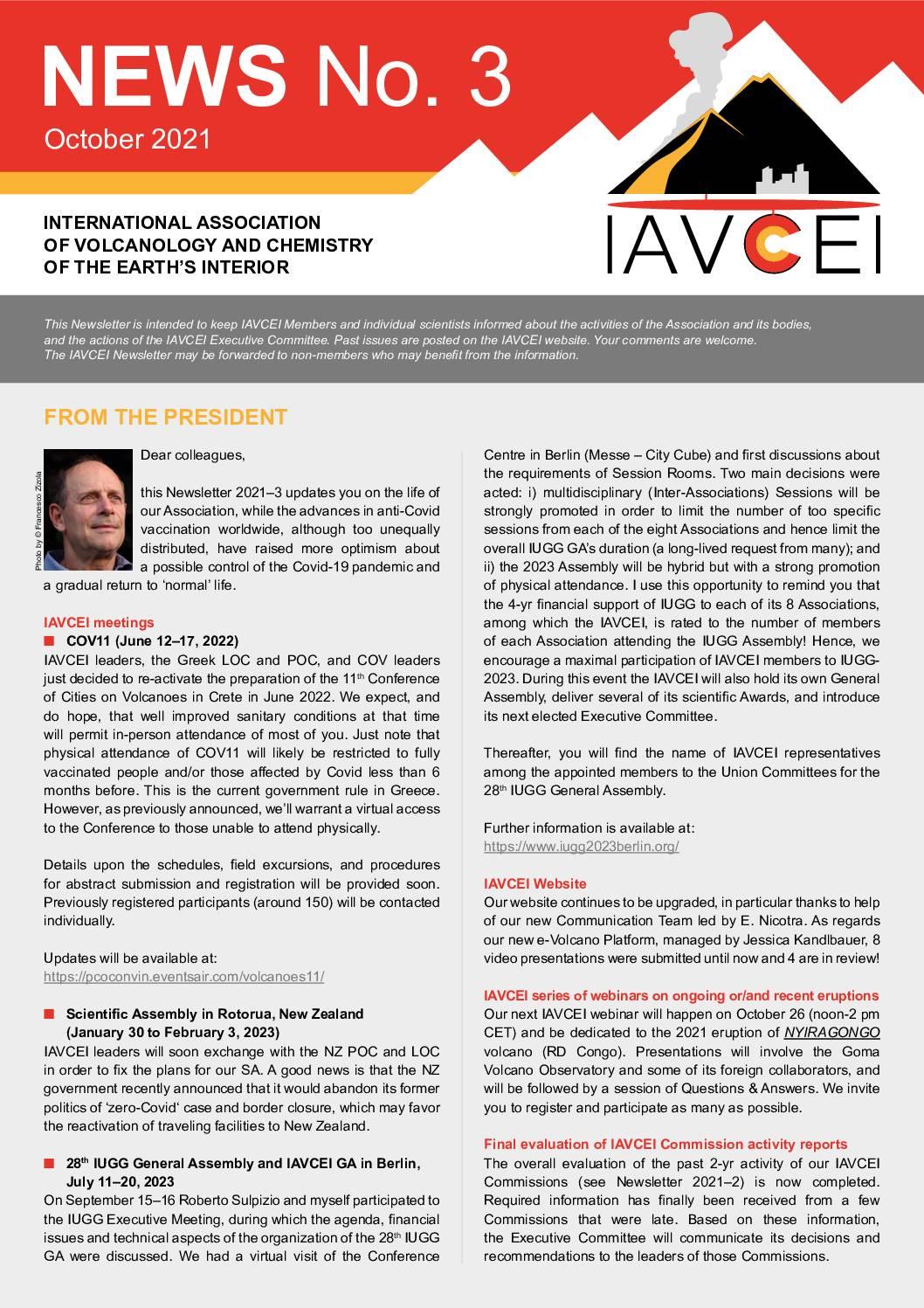 Latest IAVCEI Newsletter – 3/2021